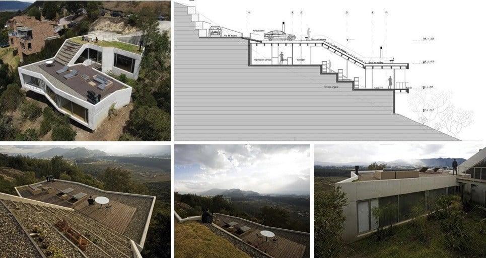 planos de casas pequenas en terrenos inclinados
