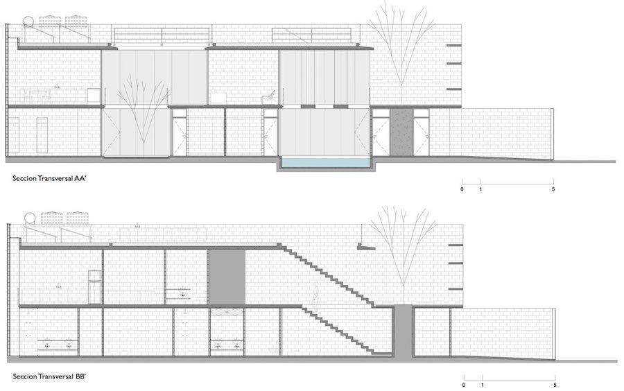 construir una casa entre medianeras