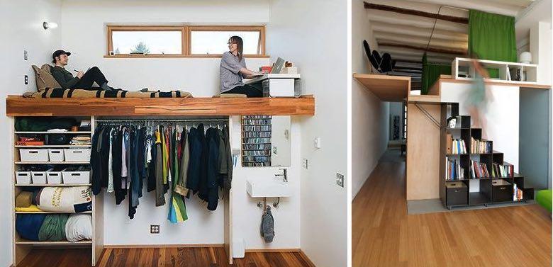 Altillos de madera precios escaleras escaleras ocultas for Dormitorio 2x3