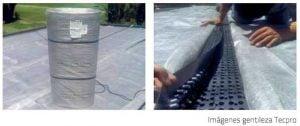 Techos verdes sistema de drenaje