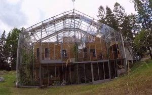casa con invernadero adosado