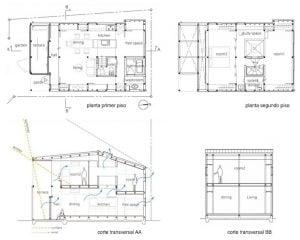 Planos casas de dos pisos