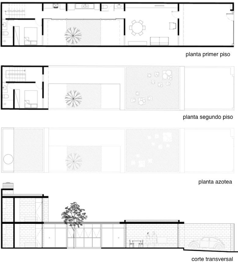 10 incre bles planos de casas de dos pisos que te van a for Planos de casas de 2 pisos