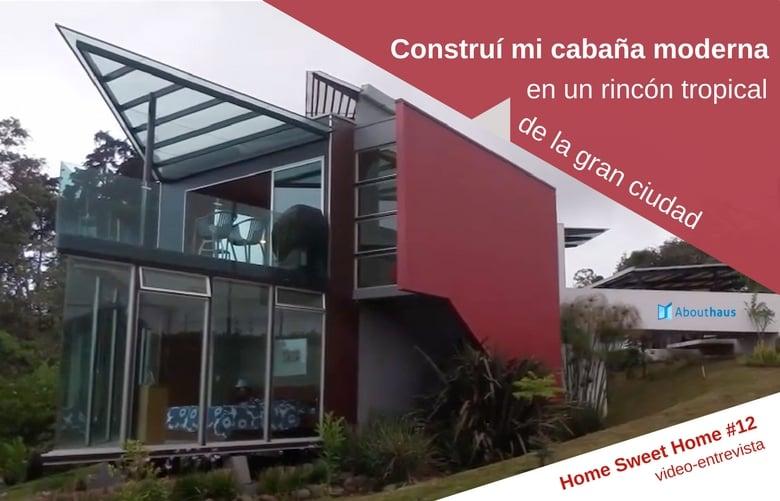 Construí mi cabaña moderna en un rincón tropical de la gran ciudad. HOME SWEET HOME #12