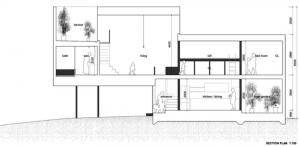 Plano de una casa estrecha
