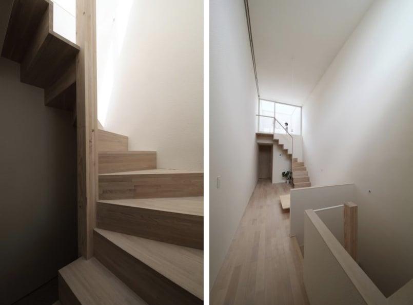 Interior casa estrecha
