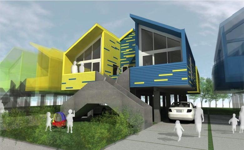 Casa duplex sostenible