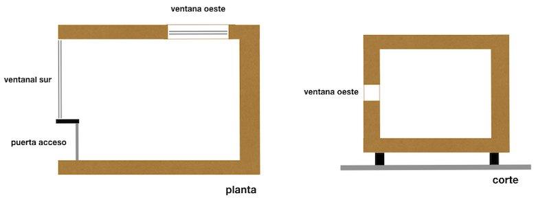 esquema casa ecologica