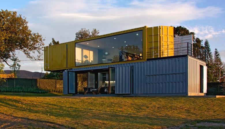 10 incre bles planos de casas de dos pisos que te van a for Diseno de oficinas con contenedores