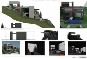 Casa en terreno inclinado