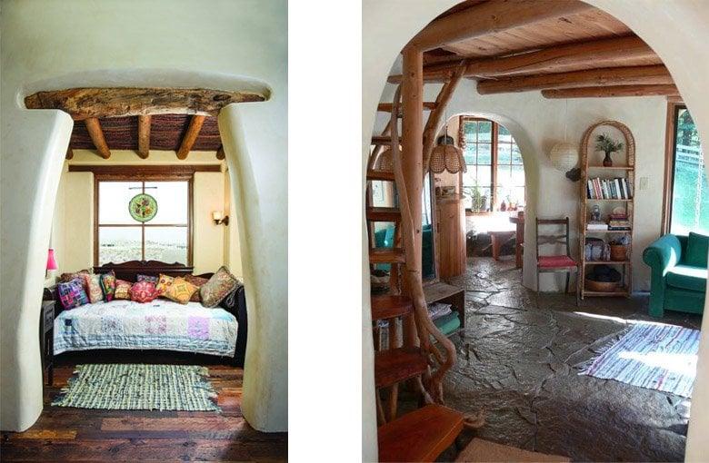 Diseño de interiores de materiales naturales