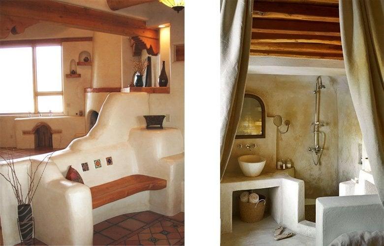 Diseno de interiores modelado con tierra